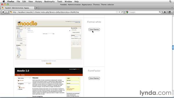 Creating a custom theme: Moodle 2.1 Essential Training for Teachers
