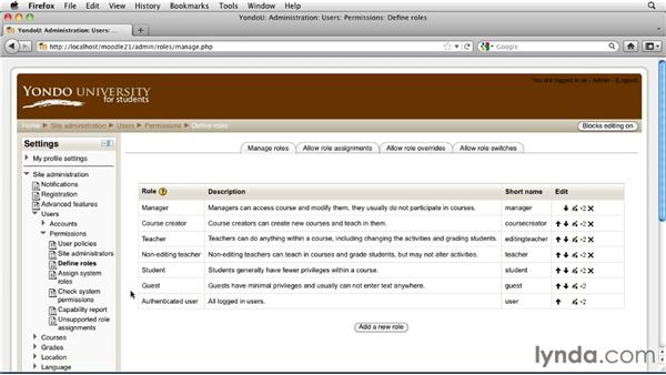 Just enough site administration: Moodle 2.1 Essential Training for Teachers