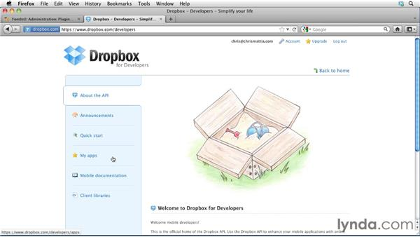 Configuring a Dropbox repository: Moodle 2.1 Essential Training for Teachers