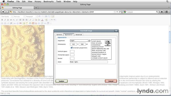 Creating a custom web page: Moodle 2.1 Essential Training for Teachers