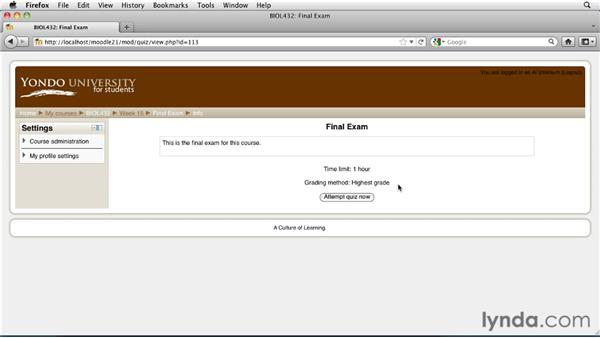 Completing assignments as a student: Moodle 2.1 Essential Training for Teachers