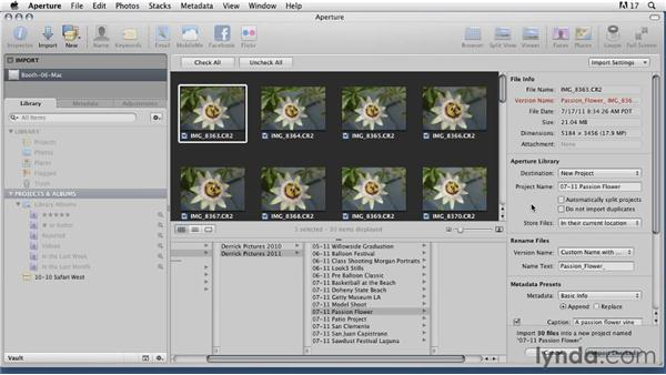 Transferring images with Aperture on a Mac : Organizing and Archiving Digital Photos