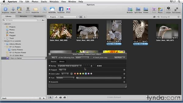 Creating Smart Albums in Aperture: Organizing and Archiving Digital Photos