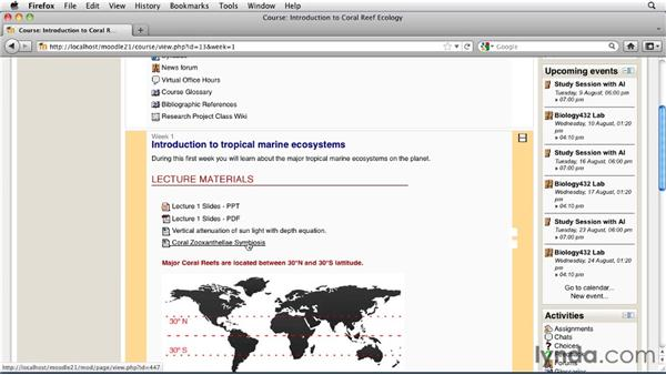 Viewing documents: Moodle 2.1 Essential Training for Students