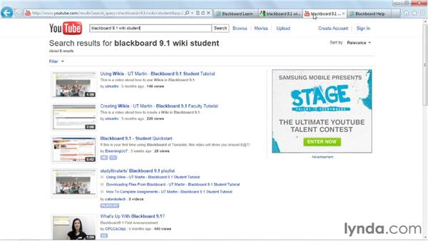 Getting help: Blackboard 9.x Essential Training for Students