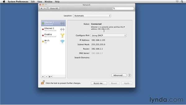 Understanding wired connections on Mac OS X: Small Office Networking to Connect, Share, and Print