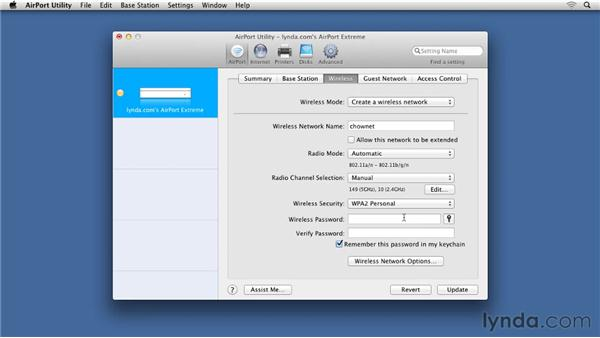 Activating WPA2 on the Airport Extreme: Small Office Networking to Connect, Share, and Print