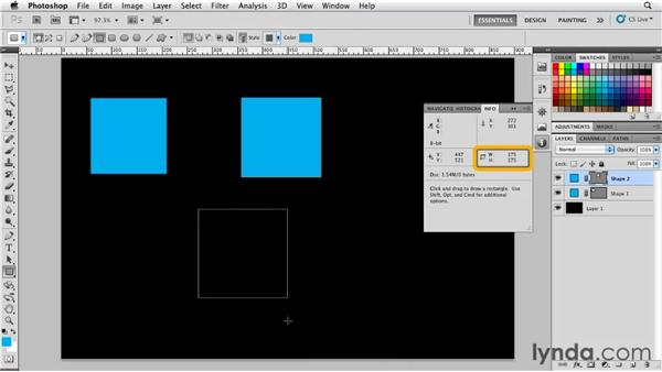 Drawing rectangles, rounded rectangles, and ellipses: Photoshop for Designers: Shape Layers