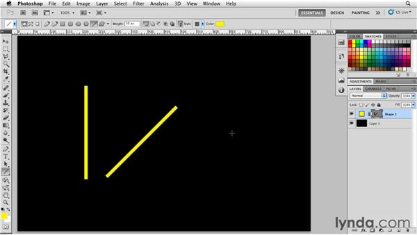 Drawing lines: Photoshop for Designers: Shape Layers