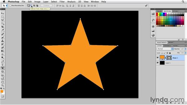 Inverting paths: Photoshop for Designers: Shape Layers