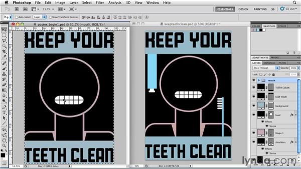 Creating a poster by combining simple shapes, part 2: Photoshop for Designers: Shape Layers