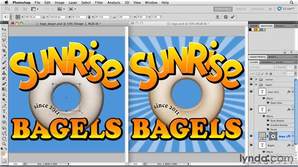 Creating a logo with shape layers: Photoshop for Designers: Shape Layers