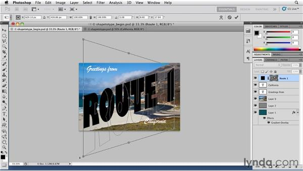 Creating shape layers from type: Photoshop for Designers: Shape Layers