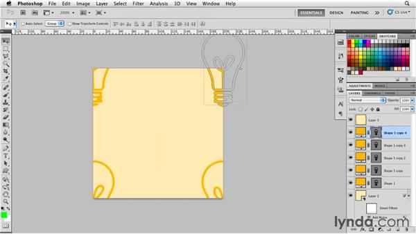 Creating seamless patterns from shape layers: Photoshop for Designers: Shape Layers