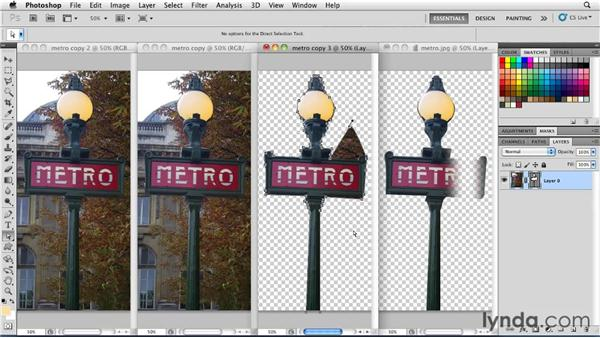 Converting to a selection, vector mask, or layer mask: Photoshop for Designers: Shape Layers