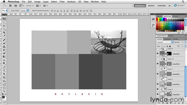 Using shape layers to create a photo grid: Photoshop for Designers: Shape Layers