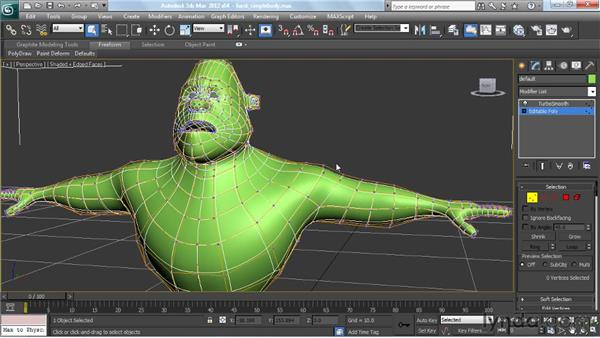 Using TurboSmooth: Modeling a Character in 3ds Max