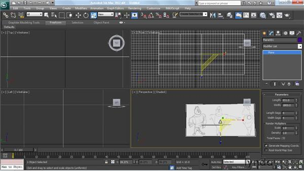 Setting up the image planes: Modeling a Character in 3ds Max