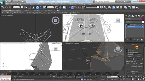 Creating the basic facial features: Modeling a Character in 3ds Max