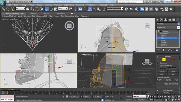 Making the head and neck: Modeling a Character in 3ds Max