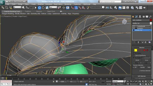 Building the nose : Modeling a Character in 3ds Max