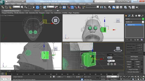 Crafting the ears: Modeling a Character in 3ds Max