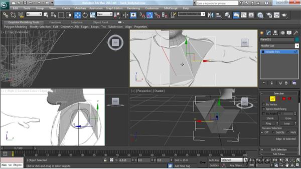 Modeling the upper body: Modeling a Character in 3ds Max