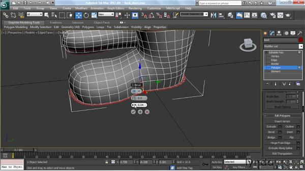 Making the shoes: Modeling a Character in 3ds Max