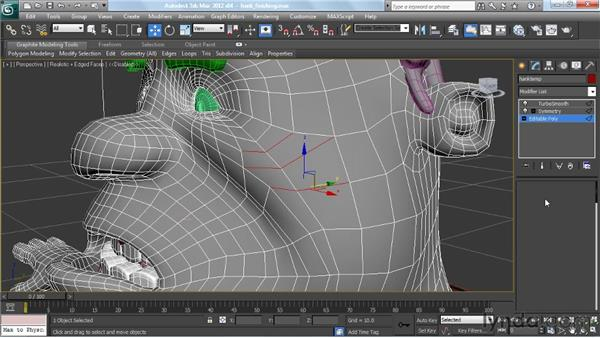 Putting on the finishing touches: Modeling a Character in 3ds Max