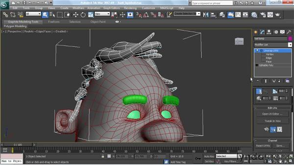 Dealing with UVW maps across multiple objects: Modeling a Character in 3ds Max