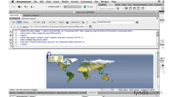 Adding custom attributes into HTML: Create an Interactive Map with jQuery and Dreamweaver