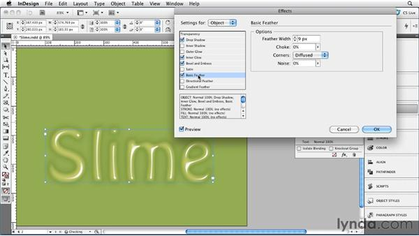 006 Producing Slime: InDesign FX