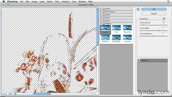 Applying realistic cracks with Craquelure: Photoshop for Designers: Textures