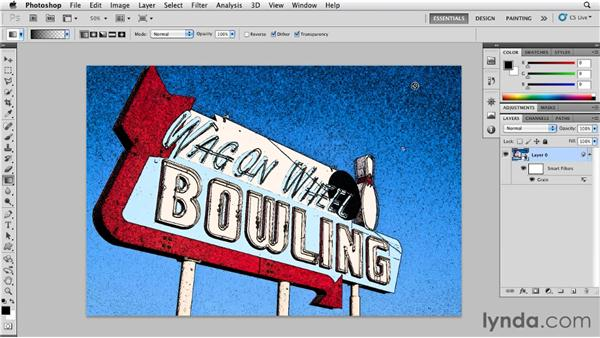 Accentuating texture with Speckle grain: Photoshop for Designers: Textures