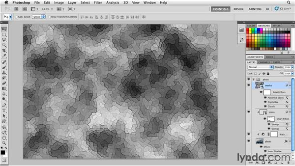 Adding cracks: Photoshop for Designers: Textures