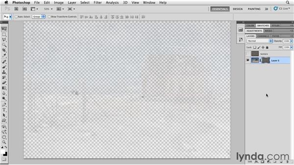 Blending textures with layer masks: Photoshop for Designers: Textures