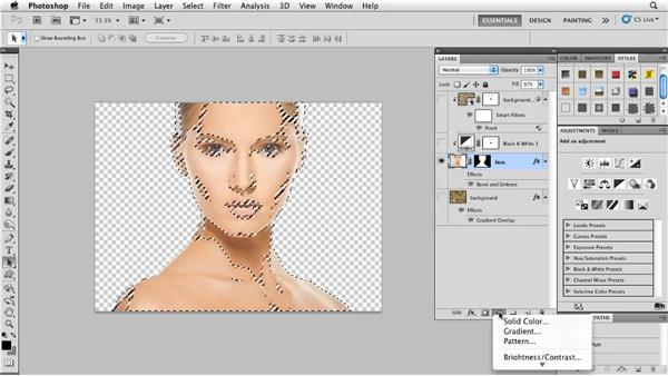 Applying texture to an uneven surface: Photoshop for Designers: Textures