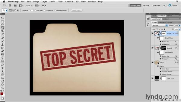 Creating a rubber stamp: Photoshop for Designers: Textures