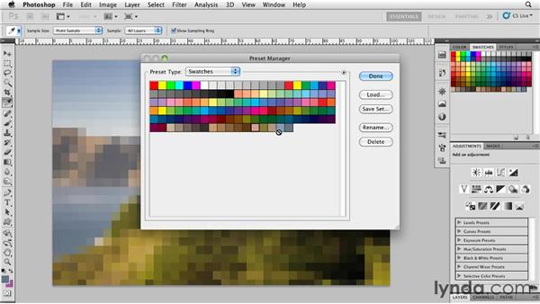 Creating an abstract image with Mosaic: Photoshop for Designers: Textures