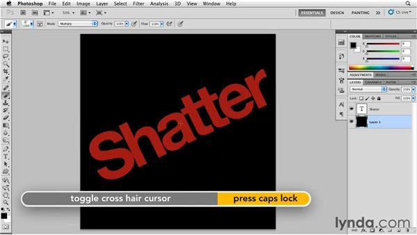 Creating a shatter effect: Photoshop for Designers: Textures