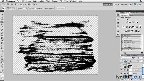 Sampling a brush stroke: Photoshop for Designers: Textures