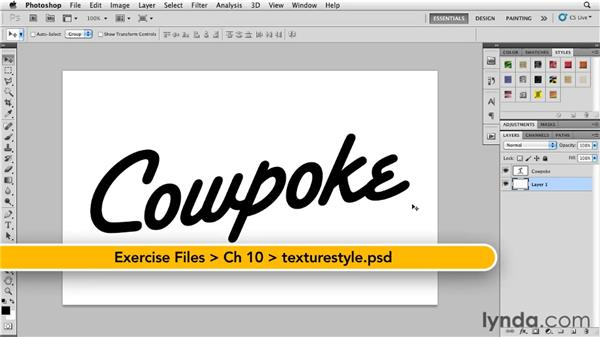 Applying texture styles: Photoshop for Designers: Textures
