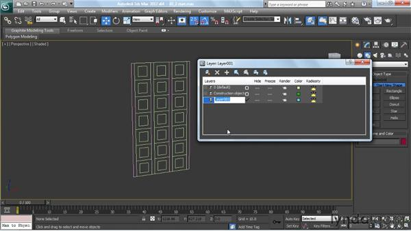 Using layers to organize construction elements and actual models: Creating Urban Game Environments in 3ds Max