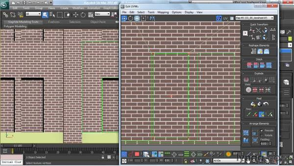 Laying out a texture sheet for a façade: Creating Urban Game Environments in 3ds Max