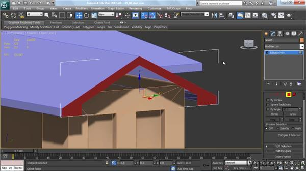 Adding fascias and soffits for gable ends: Creating Urban Game Environments in 3ds Max