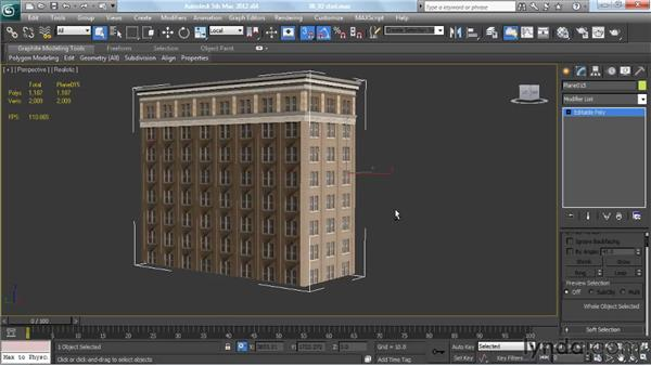 Setting pivot points for buildings: Creating Urban Game Environments in 3ds Max