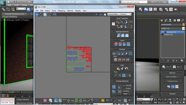 Unwrapping objects a second time: Planning an unwrap for a light map: Creating Urban Game Environments in 3ds Max