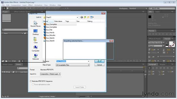 Importing Illustrator files into After Effects: Creating Animated Characters in After Effects
