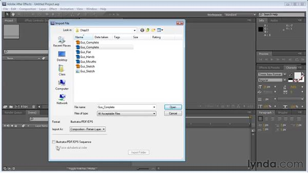 Importing Photoshop files into After Effects