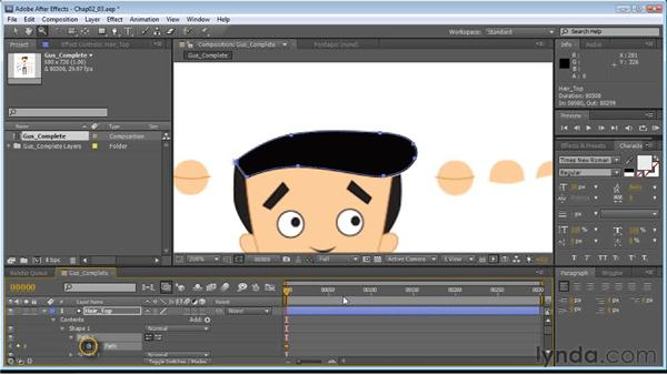Animating shapes: Creating Animated Characters in After Effects